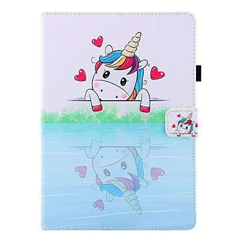 JIan Ying Funda para Huawei Mediapad T5 10.1 pulgadas Slim Ligero Protector Cover Loving Unicorn