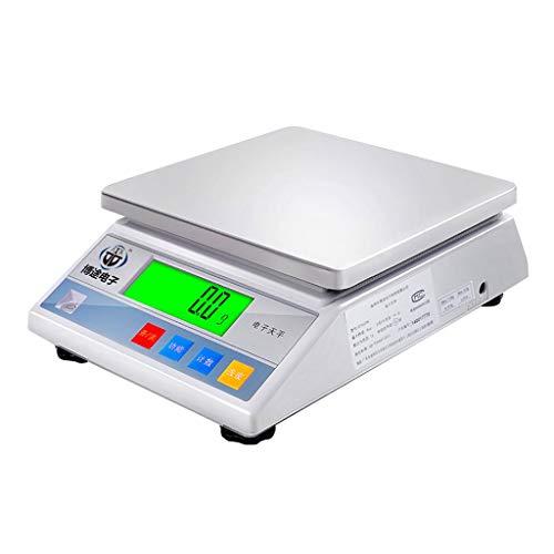 LBBL Báscula Digital, Sistema De Sensor De Alta Precisión 10kg/0.1g Acero Inoxidable Función Tara Báscula Cocina para Hostelería Bollería Frutería (Size : 3kg/0.1g)