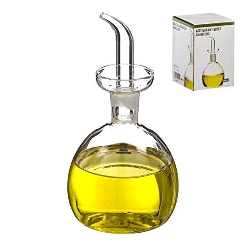 D'CASA Dcasa - Aceitera de Cristal antigoteo 250 ml en Caja, 250ml