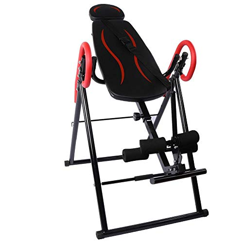 For Sale! Inversion Table, Heavy Duty Foldable Fitness Gravity Inversion Table Easy to Use Adjustabl...