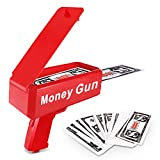 Lefree Spary Money Gun,Cash Money Gun,Make it Rain,Dollar Gun,Playing Money Spary,Prop Money Gun with 100 Pcs,Make it Rain Toy Gun,Money Gun Drop Red(Including Batteries4)