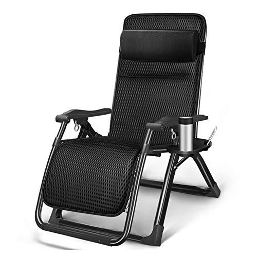 WLKDMJ Tumbona plegable, silla de playa de la terraza, Oficina Hogar Portátil de la Silla de la Playa Silla Plegable Cama Plegable Reclinable Cama Individual Simple siesta cama
