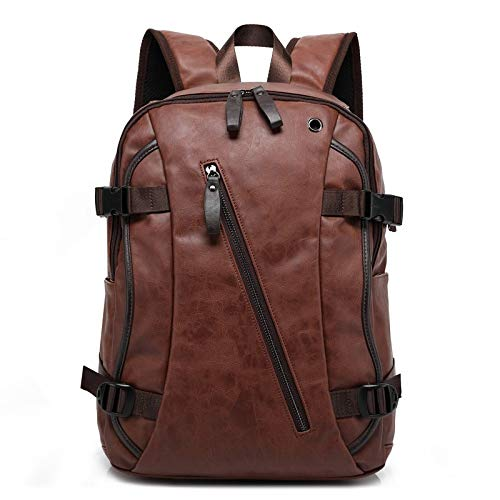 Ys-s Shop customization Men Oil Wax Leather Backpack Men's Superficial Backpack Travel Bags Man Backpacks (Color : C, Size : 42 * 33 * 13cm)