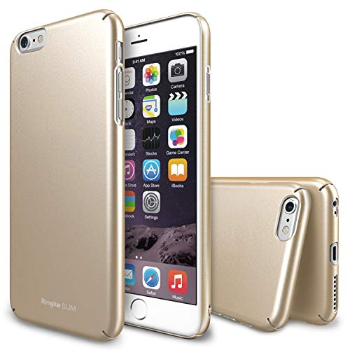 Ringke Slim Compatible with iPhone 6 Plus Case Full Coverage on All 4-Sides & Back Super Slim Lightweight All Around Protection Hard Case for iPhone 6 Plus - Royal Gold