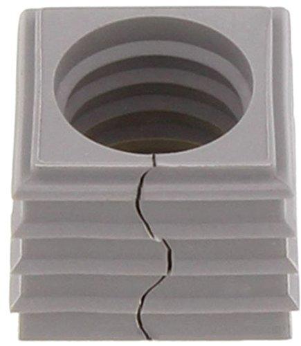 Conta-Clip 28609.6 Kabeldurchführungssystem KDSClick, Dichtelement KDS-DE 14-15 GR, Montageart: Stecken, Länge x Breite: 20,3 mm, Kabeldurchmesser max.: 15 mm, IP 66, Farbe: Grau, 10 Stück