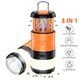 Aerb Camping Lampe, Mückenlampe Moskitolampe 3 in 1 LED Camping Laterne Winddicht, für Angeln, Wandern, Camping, Notfall, Hurrikan, Stromausfall