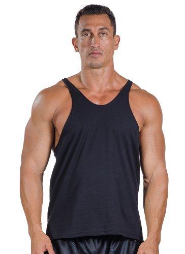 Para hombre algodón Stringer Tank Top por camiseta de ropa en color de su elección - negro -