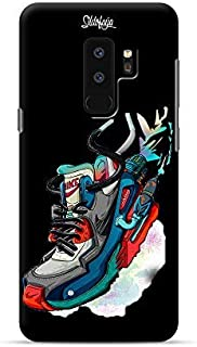 Samsung Galaxy S8 S9 + Plus case, Air Max Design from Sildofaya Brand Ultra Slim fit Flexible Soft TPU Case Cover Black (s9 Plus)