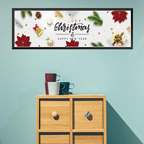 Pegatinas de pared para dormitorio, Navidad, decoración de cocina, lindas pegatinas de Navidad para ventanas de casa, citas de flores para el día de San Patricio en (G)