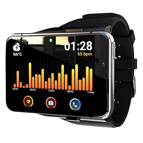 AKY 2.88 Pulgadas 4GB + 64GB 2300mAh Smart Watch para Android 7.1 4G Teléfono móvil Doble cámara Grabación Bluetooth 5.0 Reloj Inteligente Deportivo Impermeable,B