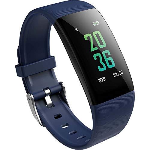 Wysgvazgv Smart Fitness Tracker Horloge, Activiteit Tracker Waterdichte IP67 Hartslag Slaap Monitor Stappenteller bloed Druk SMS Call Alarm Kleur Scherm Smart Armband iOS Android iPhone Vrouw Man Kid, Blauw