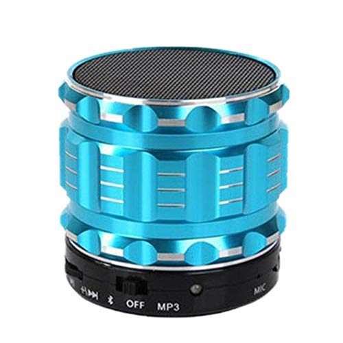 qiyan , Tragbarer Mini-Bluetooth-Audio-Bluetooth-Lautsprecher Metall Drahtloser Mini-Bluetooth-Lautsprecher für Mobiltelefone Tragbare Tablet-Lautsprecher Blau