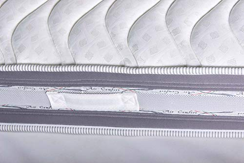 Materassimemory.eu Materasso Matrimoniale, Molle insacchettate indipendenti e Memory, Modello Italo, 160 x 195 x 26 cm, Rivestimento 3D Air, 100% Made in Italy