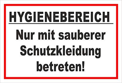 Melis Folienwerkstatt Schild Hygienebereich - 30x20cm - 3mm Hartschaum – 20 VAR S00225-010-B