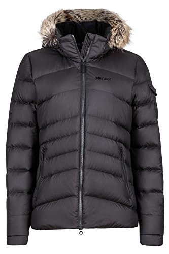 Marmot Women's Ithaca Down Puffer Jacket, Fill Power 700, Jet Black ,Large