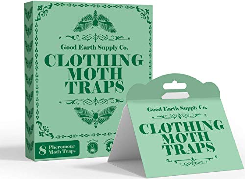 Good Earth Supply Co. Clothing Moth Traps Eco Friendly with Pheromone Attractants | Pack of 8