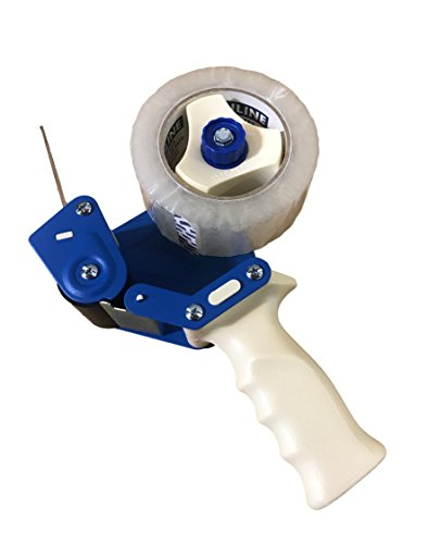 """Uline 2-Inch Tape Combo, Hand-Held Industrial Side Loading Tape Dispenser with 2"""" x 110yds Packing Tape Roll, H-150 Plus S-423"""