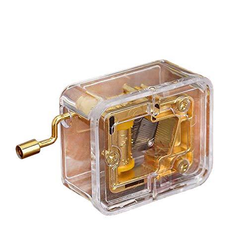PillowCry - Caja de música (acrílico, chapada en Oro), Frozen