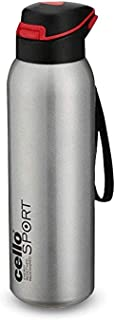 Cello Gym Star Stainless Steel Flask, 650ml, Silver