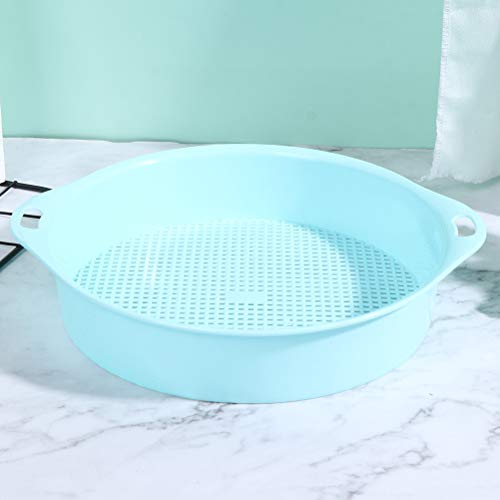 CoscosX Garden Sieve Soil Sifting Pan Classifier for Compost Plastic Soil Stone Mesh Soil Sieve Stones Mesh Trapping Dirt Sifter Mix Soil Filter Stainless Steel Frame Bonsai Gardening Filter Tool