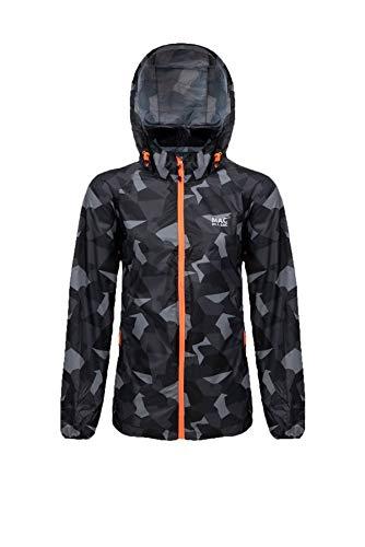 Mac in a Sac® - Veste imperméable Edition - Unisexe - se replie dans Une Pochette - Imprimé Camouflage Noir - XXL