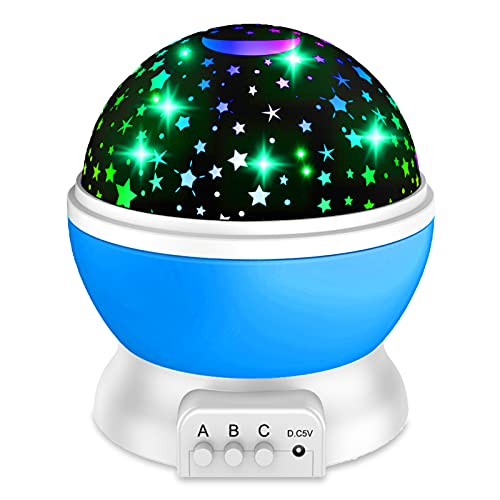 Night Light Projector for Kids, 360-Degree Rotating Star NightLights in The Bedroom 8 Light Color Starry Night Light Best for 4-12 Years Old Kids Party Birthday Christmas Gifts