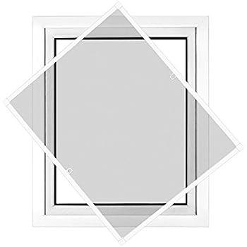 Jarolift Insektenschutz Ersatzteilset Spannrahmen Fliegengitter Fenster schwarz