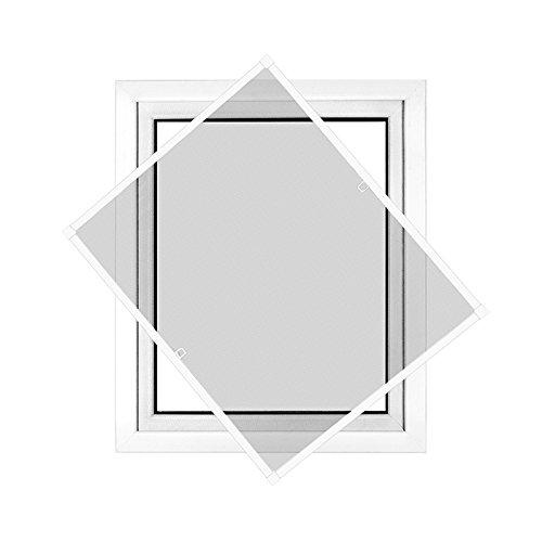 jarolift Fliegengitter Fenster Profi Line, Insektenschutz Fliegenschutzgitter Spannrahmen, Kürzbar, Alurahmen, 90 cm x 150 cm (B x H), Rahmenfarbe Weiß