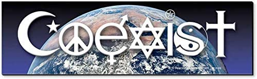 Peacemonger Coexist Over Mother Earth Interfaith Word Symbol Pea Spring new work Washington Mall