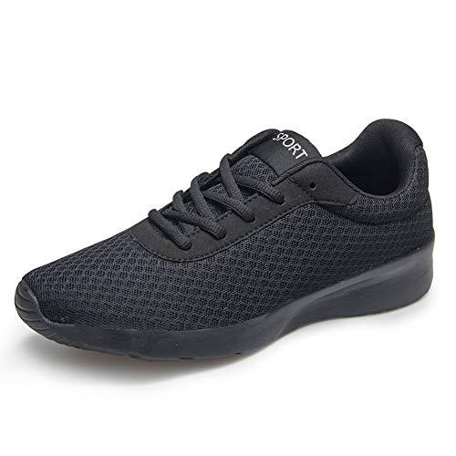 BRKVALIT Chaussures de Course Sports Mesh Respirante Gym Running Baskets pour Homme, Noir#3, 40 EU