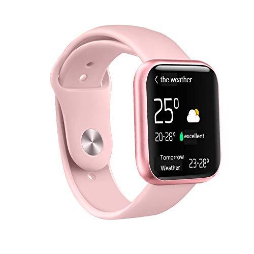 Accbooo Fitness-Tracker, Intelligente Uhr Mit Herzfrequenzmesser, Aktivität Tracker Pedometer Schlafmonitor, IP68 Wasserdichter Uhr, Für Kinder Geeignet Frauen,Pink1