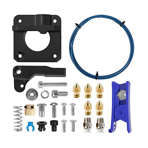 Apricot blossom Fit For Creality 3D Printer Extruder Upgrade Metal Kit Dual-Drive Extruder Suitable Fit For Ender-3/3 Pro/Ender-5/CR-10 (Color : Blue black)