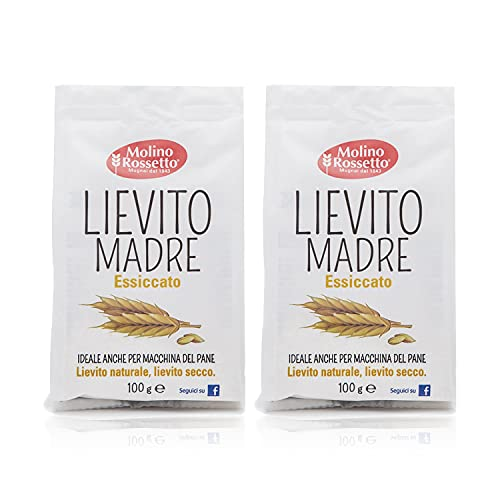 Molino Rossetto Instant Rapid-Rise Dry Yeast - Premium Yeast for Baking Bread, Cake, Pizza Dough Crust - Bread Machine Yeast - Active Dry Yeast - Mother Yeast (2 Pack 3.5oz)
