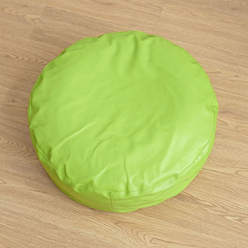 AINH Japanese Leather Futon Chair Cushion,Round Thick Tatami Cushion Durable Floor Bay Window Pad Home Decoration for Home Balcony Office Outdoor-b 50x50x16cm(20x20x6inch)