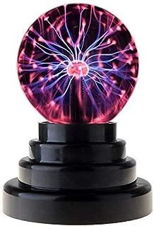 AnyQoo USB Globe Plasma Ball Lamp Light [Touch Sensitive] Nebula Sphere Globe Novelty Toy - USB or Battery Powered Globe Desktop Kids Child Party Decorative Plasma Light