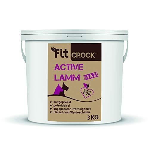 cdVet Fit-Crock Hundefutter trocken Active Lamm Maxi 3 kg, getreidefrei