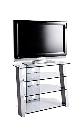 Jahnke TV-Möbel, Glas, metallfarbig, 80 x 45 x 65 cm