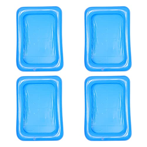 TOPBATHY Inflatable Ice Serving Bar Coolers Floating Drink Holder Buffet Server Tray Pool Cup Holders Beach Summer Party Supplies for Beach Pool Sand Indoor Outdoor Party 4Pcs