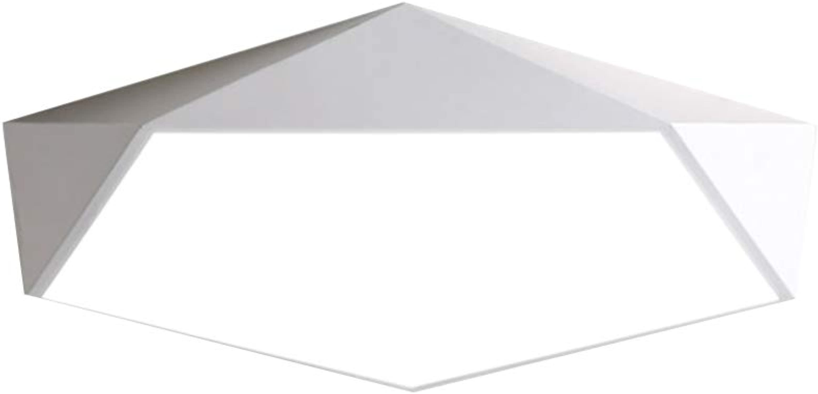 TopDeng LED Moderne Plafonnier Pour Salon, Nordique Minimaliste Montage encastré Lampe de plafond Blanc Pentagone Plafond Appareils d'éclairage-Blanc Froid 30cm-18W