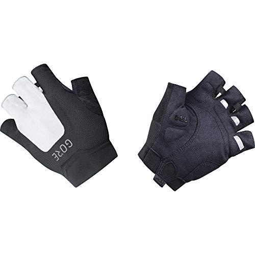 GORE WEAR C5 Kurzfinger-Handschuhe Black/White Handschuhgröße 5 2019 Fahrradhandschuhe