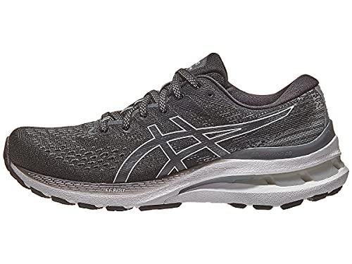 ASICS Women's Gel-Kayano 28 Running Shoes, 5, Black/White
