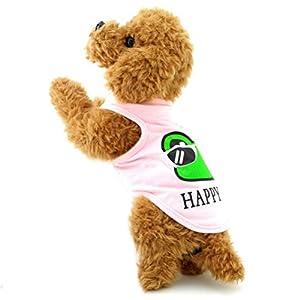 Zunea Petit Chien Vêtements pour femelle mâle Happy Frog Tank TOPS Tee-shirt Gilet Classics