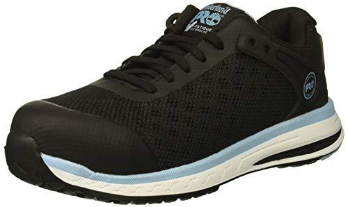 Timberland PRO Women's Drivetrain Composite Toe SD+ Industrial Boot, Black/Blue mesh, 9.5