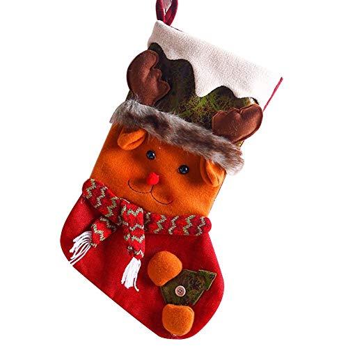 WINPSHENG Decorazioni Natalizie Calzini Regalo dei Bambini Cute Decorazione di Natale Calze Negozio Bar Supermercato Porte Finestre Decoration (Size : Deer)