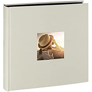 Hama Jumbo photo album Fine Art (30 x 30 cm, 100 black pages, 50 sheets, with cutout for image insert) chalk