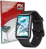 atFoliX Schutzfolie kompatibel mit Huawei Watch Fit Folie, ultraklare & Flexible FX Bildschirmschutzfolie (3X)