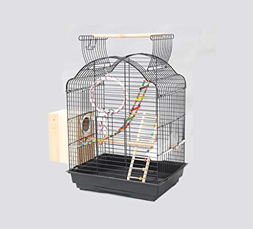 Space- rack Z-W-Dong Robuste Cages Parrot métal, Perruches calopsittes écureuil fenêtre Cages Afficher Birdcages- Top Peut être Ouvert Oiseaux/Cages à Oiseaux (Color : C, Size : 52 * 41 * 70CM)