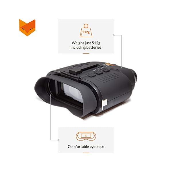Nightfox 110R Widescreen Night Vision Binocular   Digital Infrared   150m Range   Recording Function