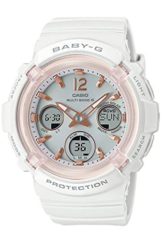 [カシオ] 腕時計 ベビージー 電波ソーラー BGA-2800-7AJF レディース ホワイト