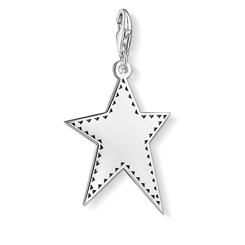 Thomas Sabo Herren Damen-Anhänger silberner Stern 925 Sterling Silber Y0041-637-21